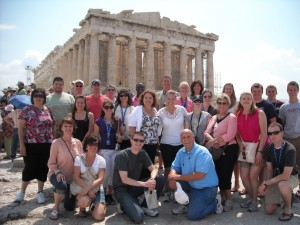 Group photo in Athens, Greece
